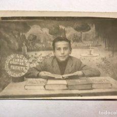 Fotografía antigua: COLEGIO LEVANTE. PUERTO DE SAGUNTO (VALENCIA) FOTOGRAFÍA RECUERDO ESCOLAR (A.1941-42). Lote 177503795