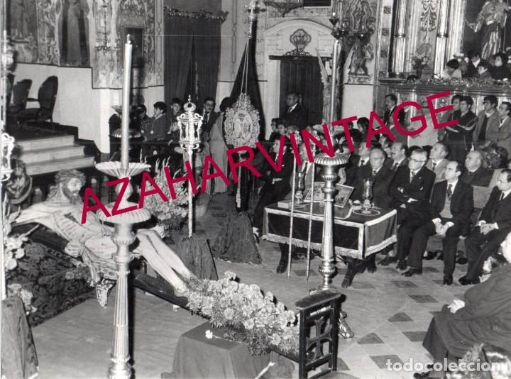 SEMANA SANTA SEVILLA,CULTOS AL ANTIGUO CRISTO DE LAS CINCO LLAGAS, LA TRINIDAD, 240X180MM (Fotografía Antigua - Fotomecánica)