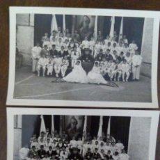 Fotografia antica: PAREJA DE FOTOGRAFÍAS ORIGINALES DEL OBISPO ALCARAZ Y ALENDA EN COMUNIÓN. BADAJOZ.. Lote 177512632