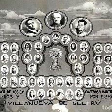 Fotografía antigua: VICTIMAS DE LA GUERRA CIVIL EN VILANOVA I LA GELTRU. FOTOGRAFÍA. SPINAZZI. VENECIA. XX. Lote 177590399