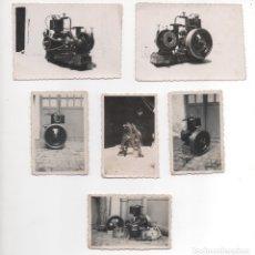 Fotografía antigua: LOTE DE 6 PEQUEÑAS FOTOGRAFÍAS DE MOTORES. Lote 177599888