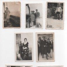 Fotografía antigua: LOTE DE 7 PEQUEÑAS FOTOGRAFÍAS DE PERSONAS. Lote 177602780
