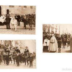 Fotografía antigua: BARCELONA.- 3 FOTOGRAFÍAS FIESTAS. CARROZAS DE SAN ANTÓN. 17,5 X 12,5 CM. Lote 177632573