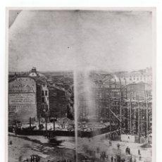 Fotografía antigua: MADRID.- PUERTA DEL SOL REFORMA DEL AÑO 1858. CONSTRUCCIÓN NUEVAS CASAS .REP. E.ROMAN. 24X18. Lote 177636380