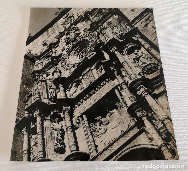 FOTOGRAFÍA ANTIGUA GRAN TAMAÑO DE LA FACHADA DE LA IGLESIA DE SANTA MARIA PONTEVEDRA (Fotografía Antigua - Fotomecánica)