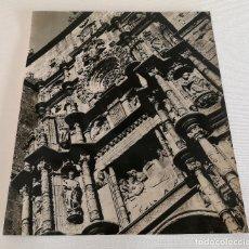 Fotografía antigua: FOTOGRAFÍA ANTIGUA GRAN TAMAÑO DE LA FACHADA DE LA IGLESIA DE SANTA MARIA PONTEVEDRA. Lote 177687503