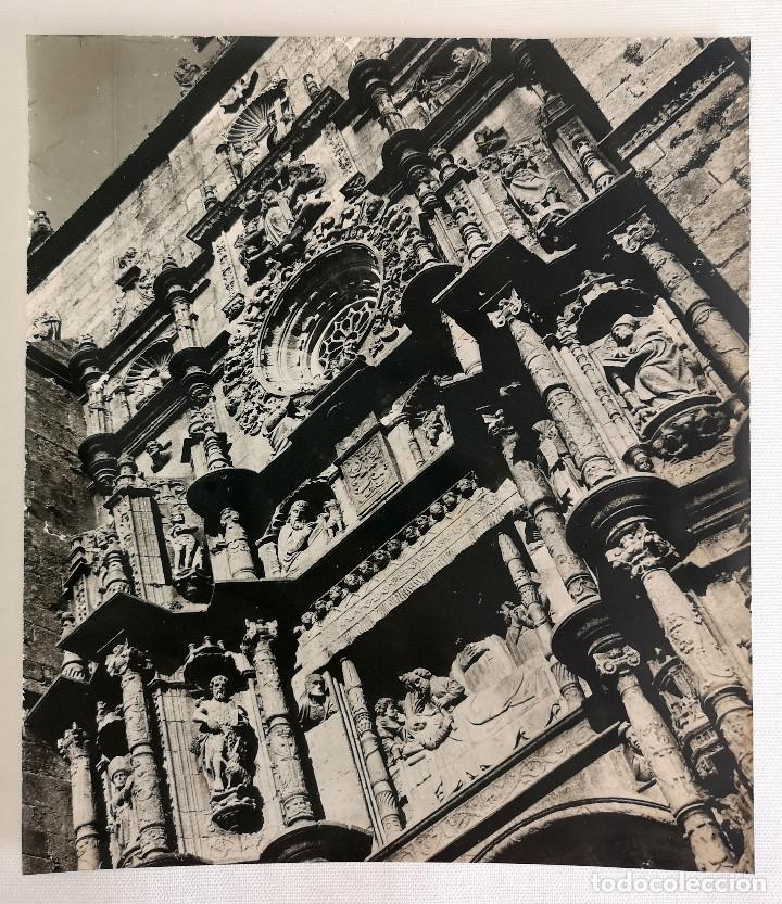Fotografía antigua: FOTOGRAFÍA ANTIGUA GRAN TAMAÑO DE LA FACHADA DE LA IGLESIA DE SANTA MARIA PONTEVEDRA - Foto 2 - 177687503