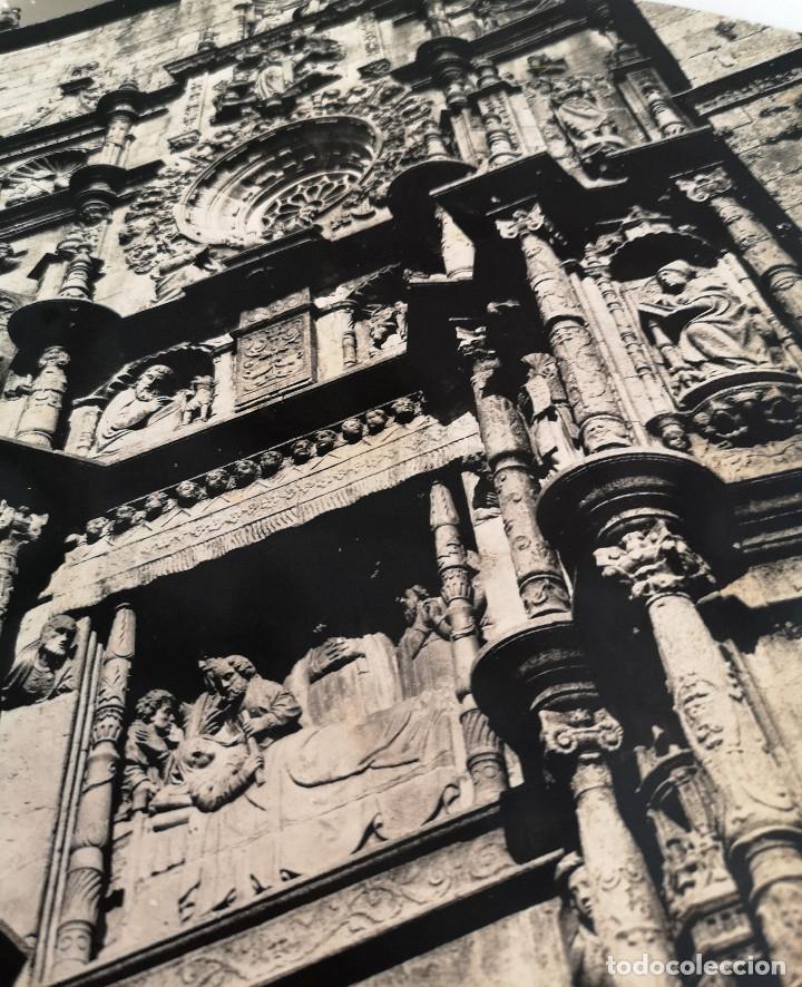 Fotografía antigua: FOTOGRAFÍA ANTIGUA GRAN TAMAÑO DE LA FACHADA DE LA IGLESIA DE SANTA MARIA PONTEVEDRA - Foto 4 - 177687503