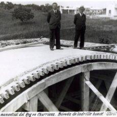 Fotografía antigua: FOTOGRAFIA DE LA CUBIERTA DEL MANANTIAL DEL REY EN CHURRIANA AÑO 1936-MALAGA-LEER DESCRIPCIÓN .. Lote 177703035