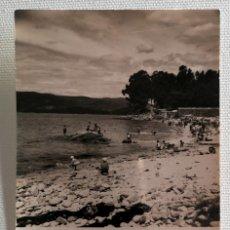 Fotografía antigua: FOTOGRAFÍA ANTIGUA DE LA PLAYA DE PORTOCELO MARÍN PONTEVEDRA. Lote 177735162