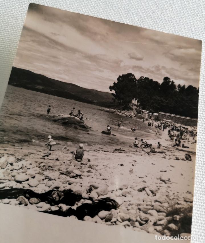 Fotografía antigua: FOTOGRAFÍA ANTIGUA DE LA PLAYA DE PORTOCELO MARÍN PONTEVEDRA - Foto 3 - 177735162