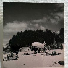 Fotografía antigua: FOTOGRAFÍA ANTIGUA DE LA PLAYA DE MOGOR MARÍN PONTEVEDRA. Lote 177737870