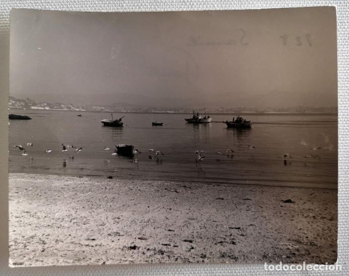 FOTOGRAFÍA ANTIGUA PLAYA DE SAMIL EN VIGO GALICIA (Fotografía Antigua - Fotomecánica)