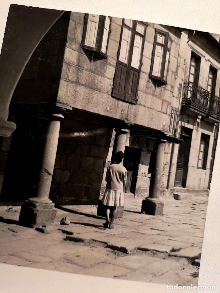 FOTOGRAFÍA CALLE DE FIGUEROA EN PONTEVEDRA GALICIA (Fotografía Antigua - Fotomecánica)