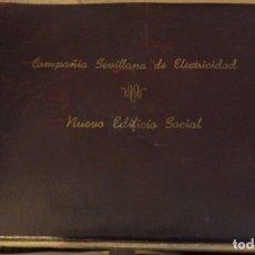 Fotografía antigua: SEVILLA, 1948, ALBUM FOTOGRAFIAS INAUGURACION SEDE COMPAÑIA SEVILLANA DE ELECTRICIDAD,33 FOTOS. Lote 177766382
