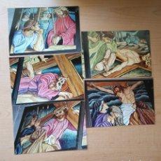 Fotografía antigua: LOTE 5 FOTOGRAFÍAS ESCENAS CALVARIO DE JESÚS - 15CM X 10CM. Lote 177831155