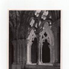 Fotografía antigua: TARRAGONA.- MONASTERIO DE POLLET. CLAUSTRO. FOT. MARQUÉS DE SANTA MARIA DEL VILLAR.12,5X18.. Lote 178006115