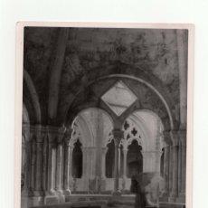Fotografía antigua: TARRAGONA.- MONASTERIO DE POLLET. TEMPLETE CLAUSTRO. FOT. MARQUÉS DE SANTA MARIA DEL VILLAR.12,5X18.. Lote 178006940