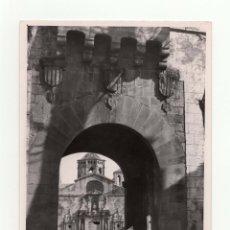 Fotografía antigua: TARRAGONA.- MONASTERIO DE POLLET. ENTRADA. FOT. MARQUÉS DE SANTA MARIA DEL VILLAR.12,5X18.. Lote 178007129