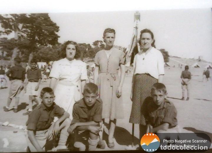 Fotografía antigua: 34 cliches originales de flechas marchando hacia el campamento en tren y del campamento años 40 - Foto 2 - 178221045