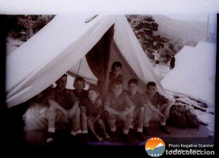 Fotografía antigua: 34 cliches originales de flechas marchando hacia el campamento en tren y del campamento años 40 - Foto 3 - 178221045