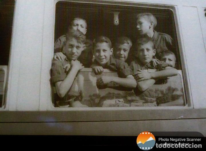 Fotografía antigua: 34 cliches originales de flechas marchando hacia el campamento en tren y del campamento años 40 - Foto 6 - 178221045