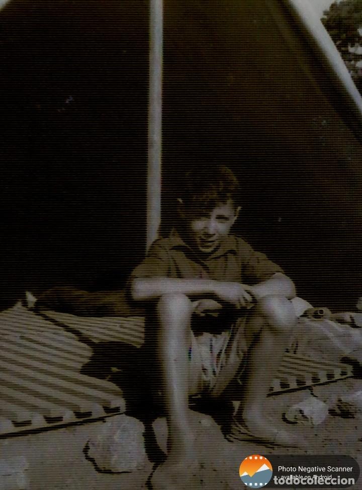 Fotografía antigua: 34 cliches originales de flechas marchando hacia el campamento en tren y del campamento años 40 - Foto 7 - 178221045