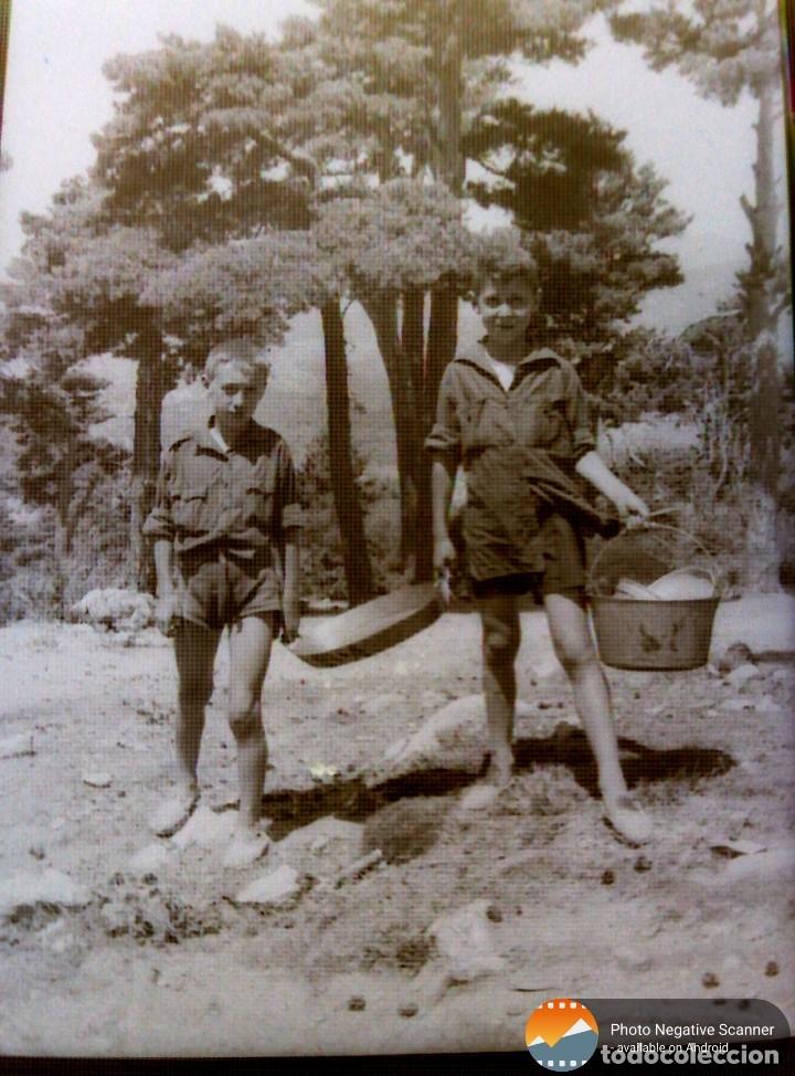 Fotografía antigua: 34 cliches originales de flechas marchando hacia el campamento en tren y del campamento años 40 - Foto 9 - 178221045