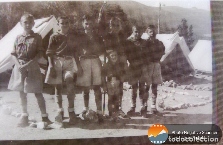 Fotografía antigua: 34 cliches originales de flechas marchando hacia el campamento en tren y del campamento años 40 - Foto 14 - 178221045