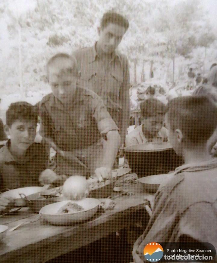 Fotografía antigua: 34 cliches originales de flechas marchando hacia el campamento en tren y del campamento años 40 - Foto 17 - 178221045