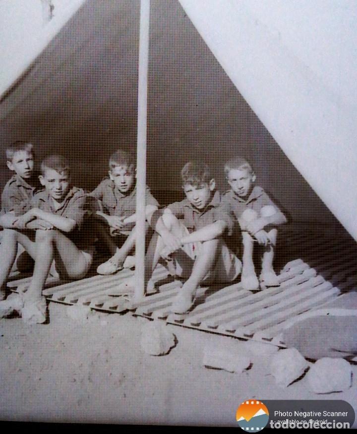 Fotografía antigua: 34 cliches originales de flechas marchando hacia el campamento en tren y del campamento años 40 - Foto 18 - 178221045