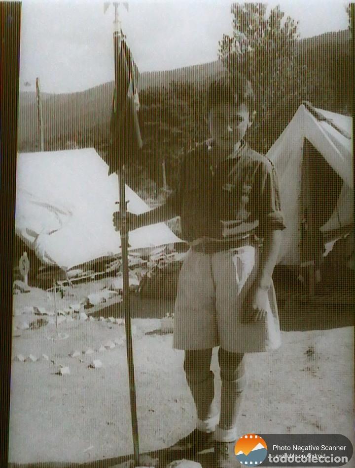 Fotografía antigua: 34 cliches originales de flechas marchando hacia el campamento en tren y del campamento años 40 - Foto 22 - 178221045