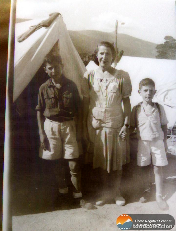 Fotografía antigua: 34 cliches originales de flechas marchando hacia el campamento en tren y del campamento años 40 - Foto 25 - 178221045