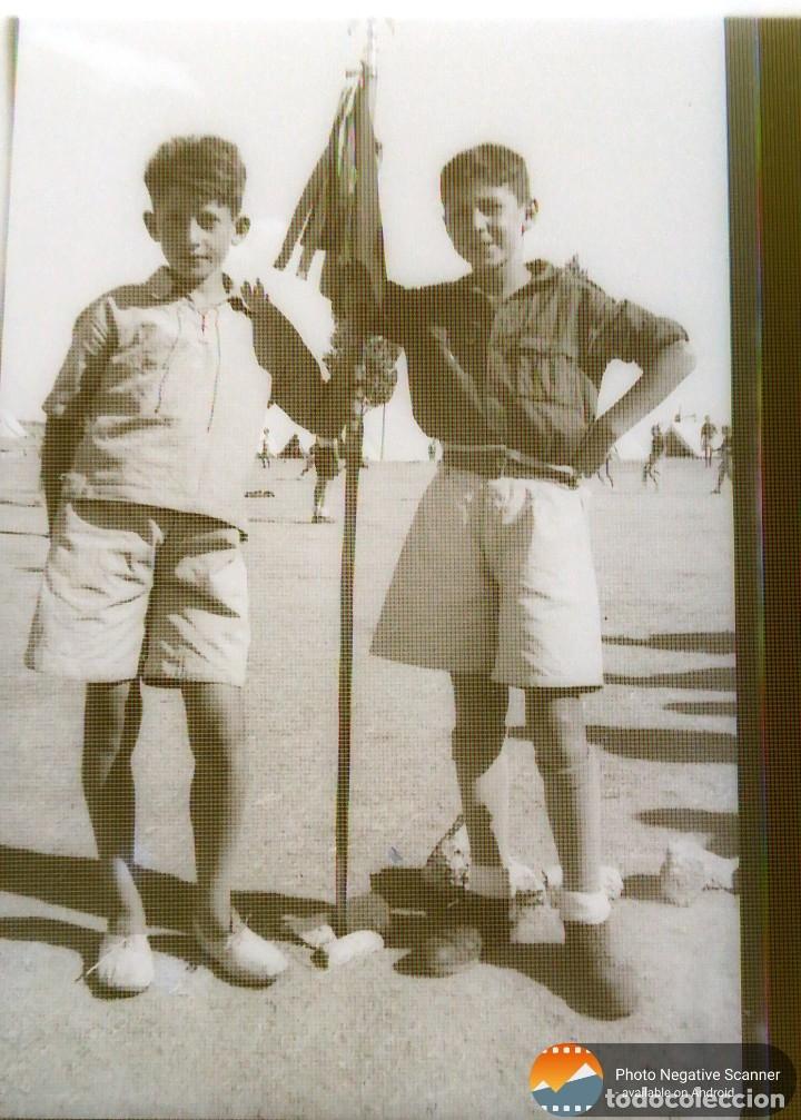 Fotografía antigua: 34 cliches originales de flechas marchando hacia el campamento en tren y del campamento años 40 - Foto 30 - 178221045