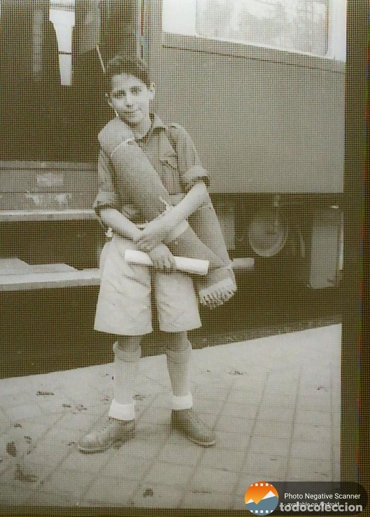 Fotografía antigua: 34 cliches originales de flechas marchando hacia el campamento en tren y del campamento años 40 - Foto 31 - 178221045