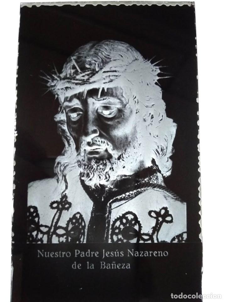 ANTIGUO CLÍCHÉ DE NTRO PADRE JESÚS NAZARENO LA BAÑEZA LEÓN NEGATIVO EN CRISTAL (Fotografía Antigua - Fotomecánica)