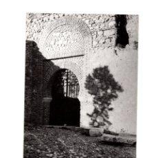 Fotografía antigua: MÁLAGA.- PUERTA DE LA ENTRADA A LA ALCAZABA. FOTO GUERRERO. 12X18.. Lote 178375403