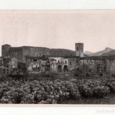 Fotografía antigua: GERONA. CAMINO DE OLOT. SANTA POU.- MARQUÉS DE SANTA MARIA DEL VILLAR. 18X13.. Lote 178498623