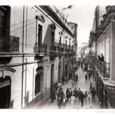 Fotografía antigua: HUELVA.- CALLE JOAQUÍN COSTA. FOTO SOBRINO L.ROISIN. 24X17,5.. Lote 178666453
