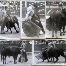 Fotografía antigua: LOTE FOTOS SORIANO FOTOS SORIANO DEL TORERO VICENTE BLAU EL TINO. Lote 178780313