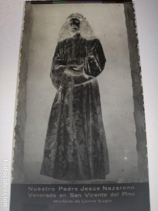 LUGO MONFORTE DE LEMOS SAN VICENTE DEL PINO JESUS NAZARENO ANTIGUO CLICHE NEGATIVO EN CRISTAL (Fotografía Antigua - Fotomecánica)