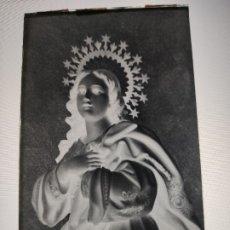 Fotografía antigua: SEGOVIA VIRGEN PURISIMA ANTIGUO CLICHE NEGATIVO EN CRISTAL. Lote 179120176