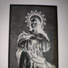 Fotografía antigua: SEGOVIA VIRGEN PURISIMA ANTIGUO CLICHE NEGATIVO EN CRISTAL. Lote 179120248