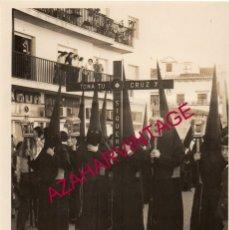 Fotografía antigua: SEMANA SANTA SEVILLA, AÑOS 70, CRUZ DE GUIA DE LA VERA CRUZ, 88X128MM. Lote 179194316