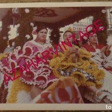 Fotografía antigua: DOS HERMANAS, ANTIGUA FOTOGRAFIA ROMERIA DE VALME,175X125MM. Lote 179946201
