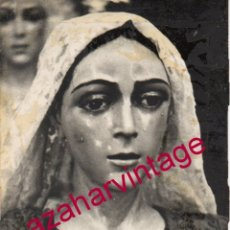 Photographie ancienne: SEMANA SANTA SEVILLA, ANTIGUA FOTOGRAFIA, REPLICA DE LA MACARENA, 75X105MM. Lote 213231137