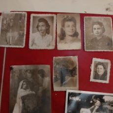 Fotografía antigua: MUJERES 8 FOTOS ANTIGUAS. Lote 180118613