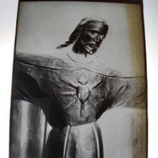Fotografía antigua: MADRID CRISTO CORAZON DE JESUS ANTIGUO CLICHE NEGATIVO EN CRISTAL. Lote 180208947