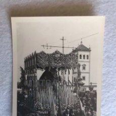 Fotografía antigua: SEMANA SANTA SEVILLA. VIRGEN DEL REFUGIO, SAN BERNARDO. FOTO: SERRANO.. Lote 180403096