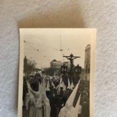 Fotografía antigua: SEMANA SANTA SEVILLA. CRISTO DE LA FUNDACIÓN, LOS NEGRITOS. FOTO: SERRANO.. Lote 180409103